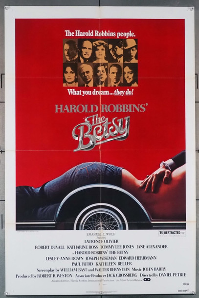 BETSY, THE (1978) 2782   Harold Robbins Movie Poster Allied Artists Original U.S. One-Sheet Poster (27x41) Folded  Very Fine Condition