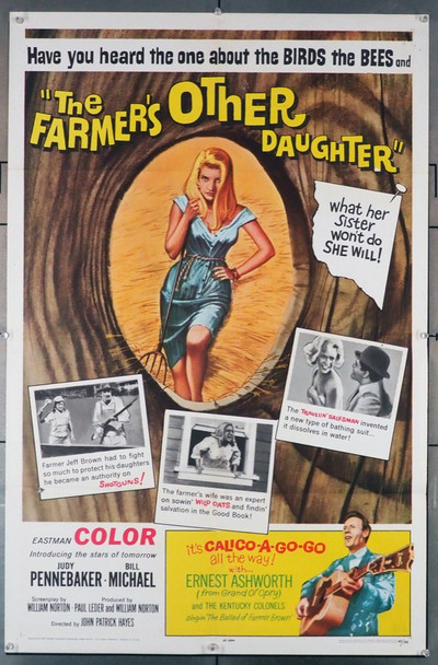 FARMER'S OTHER DAUGHTER, THE (1965) 3561   Judy Pennebaker Movie Poster Original U.S. One-Sheet Poster (27x41) Folded  Theater-Used  Very Good Condition