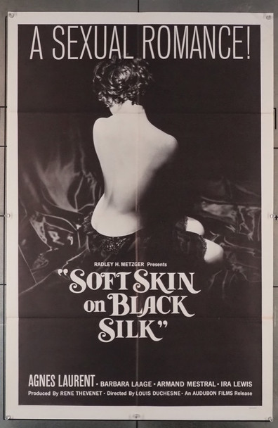 MUNDO PARA MI, UN  (1959) 3568  SOFT SKIN ON BLACK SILK  (27X41) Audubon Films Release One-Sheet Poster  Dated 1963   Folded  Very Good Condition