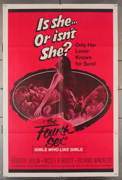 FOURTH SEX, THE (1961) 3567    LGBTQ Sexploitation Movie Poster    Audubon Films Original U.S. One-Sheet Poster (27x41) Folded  Very Fine