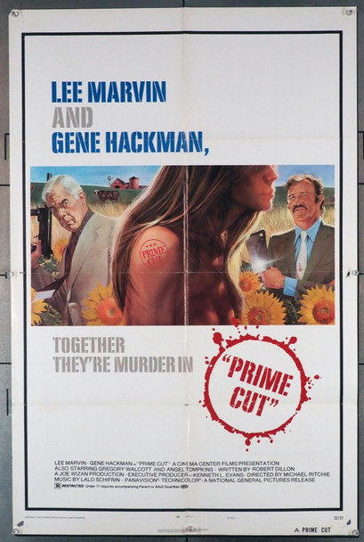 PRIME CUT (1972) 3612 National General PIctures Original U.S. One-Sheet Poster (27x41) Folded  Very Good Condition