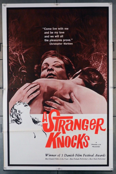 FREMMED BANKER PA, EN (1959) 3569  A STRANGER KNOCKS Movie Poster	 Original U.S. One-Sheet Poster (27x41) Folded Fine Plus Condition