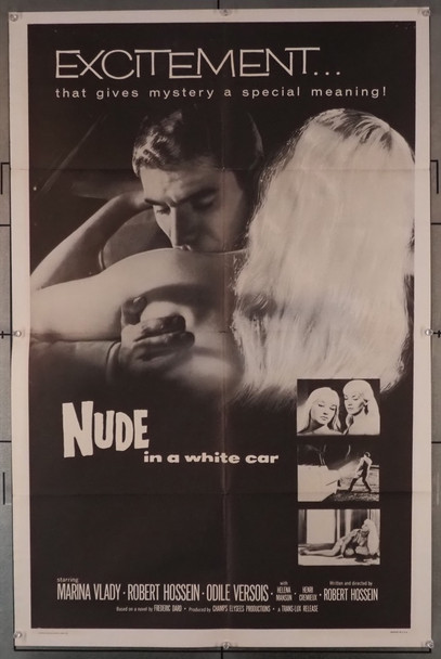 NUDE IN A WHITE CAR (1958) 3571   Original U.S. One-Sheet Poster (27x41) Folded  Fine Plus Condition