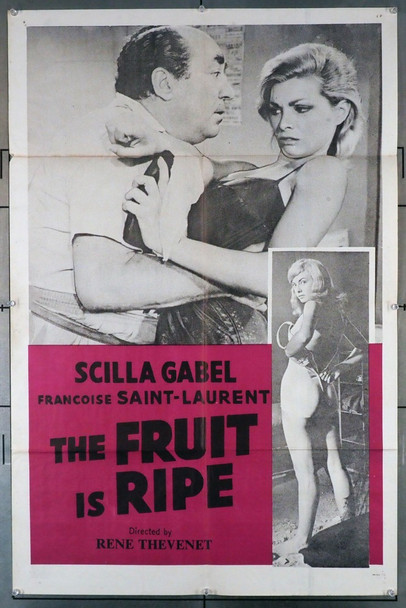 FILLES SEMENT LE VENT, LES (1961) 3570   THE FRUIT IS RIPE Original U.S. One-Sheet Poster (27x41)  Folded  Very Good Plus Condition