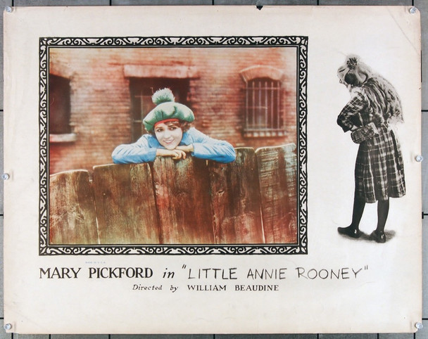 LITTLE ANNIE ROONEY (1925) 27277   Mary PIckford Movie Poster  United Artists Original U.S. Half-Sheet Poster (22x28)  Average Used Condition
