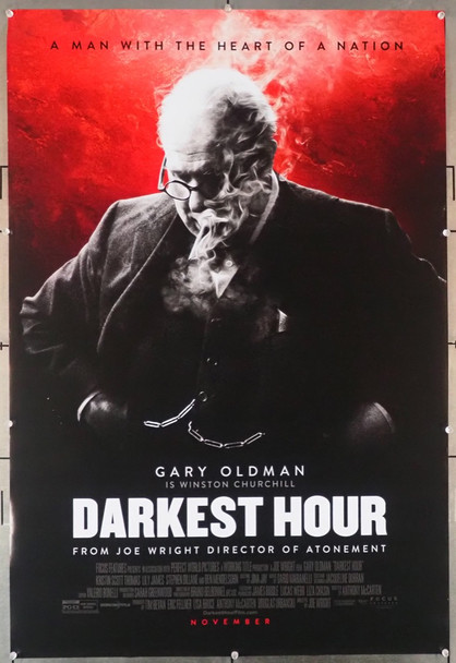 DARKEST HOUR (2017) 28952    Gary Oldman as Churchill Movie Poster Focus Features Original U.S. One-Sheet Poster (27x40)  Rolled  Fine Plus Condition