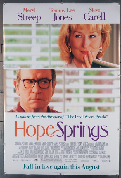 HOPE SPRINGS (2012) 28964  Tommy Lee Jones  Meryl Streep Movie Poster Lionsgate Original U.S. One-Sheet Poster (27x40) Rolled  Fine Plus Condition