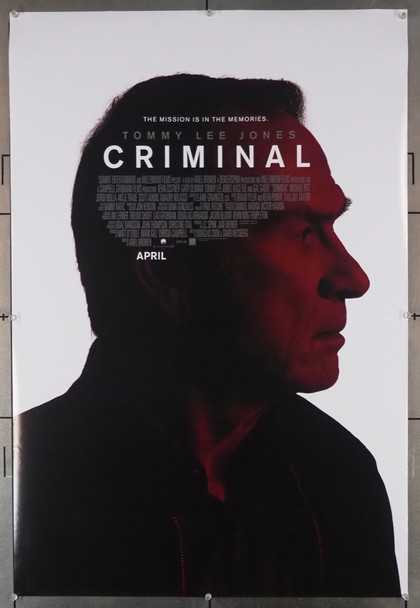CRIMINAL (2016) 28962   Tommy Lee Jones Movie Poster Summit Entertainment Original U.S. One-Sheet Poster (27x40) Rolled  Fine Plus Condition