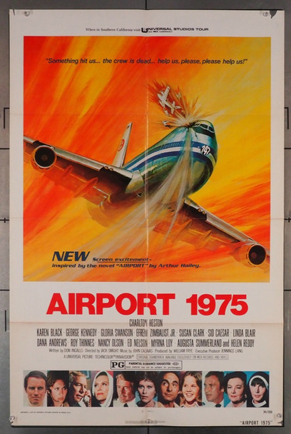 AIRPORT 1975 (1974) 1151 Universal Pictures Original U.S. One-Sheet Poster (27x41) Folded  Good Condition
