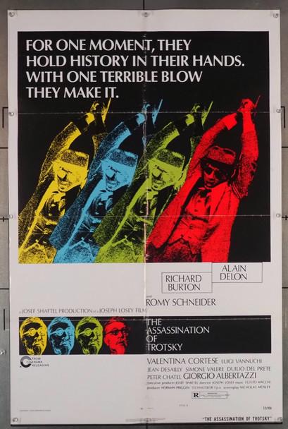ASSASSINATION OF TROTSKY, THE (1972) 1165 Cinerama Releasing Original U.S. One-Sheet Poster (27x41) Folded  Fine Condition