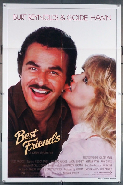 BEST FRIENDS (1982) 1175   Burt Reynolds   Goldie Hawn  Movie Poster Warner Brothers Original U.S. One-Sheet Poster (27x41) Folded  Fine Plus Condition