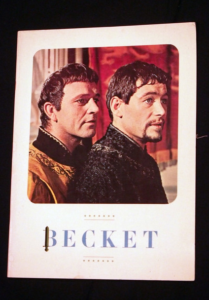 BECKET (1964) 12591    RICHARD BURTON   PETER O'TOOLE Original Program Booklet for Roadshow Venues  12x10  30 pages