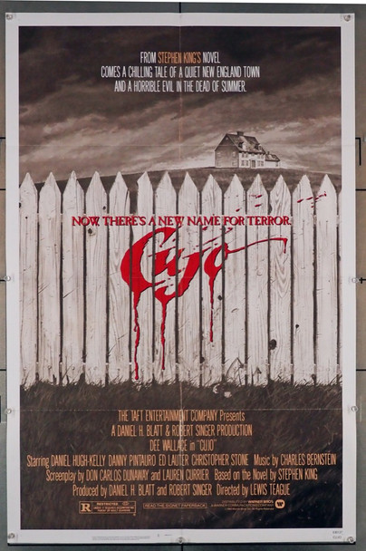 CUJO (1983) 4198   Stephen King Movie Poster Warner Brothers Original U.S. One-Sheet Poster (27x41)  Folded  Fine Plus Condition
