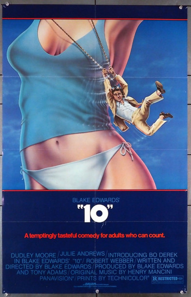 """10"" (1979) 28980 Orion Pictures Original U.S. One-Sheet Poster (25.5x40) Folded  Very Good Plus Condition"