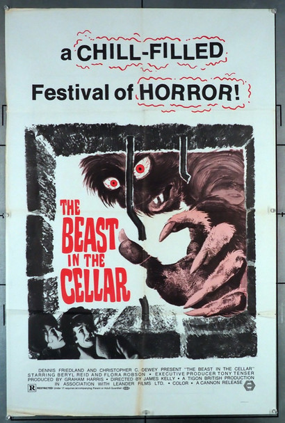 BEAST IN THE CELLAR, THE (1970) 4217  Original Movie Poster Cannon Original U.S. One-Sheet Poster  27x41 Folded  Very Good Condition  Theater Used