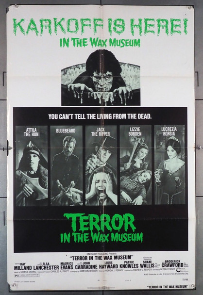 TERROR IN THE WAX MUSEUM (1973) 4219 Cinerama Releasing Original One-Sheet Poster (27x41) Folded  Fair to Good Condition
