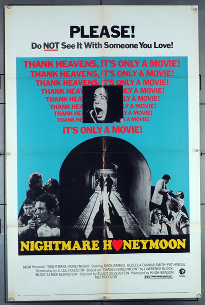 NIGHTMARE HONEYMOON (1973) 4215 MGM Original U.S. One-Sheet Poster (27x41) Folded  Very Good Plus to Fine Condition