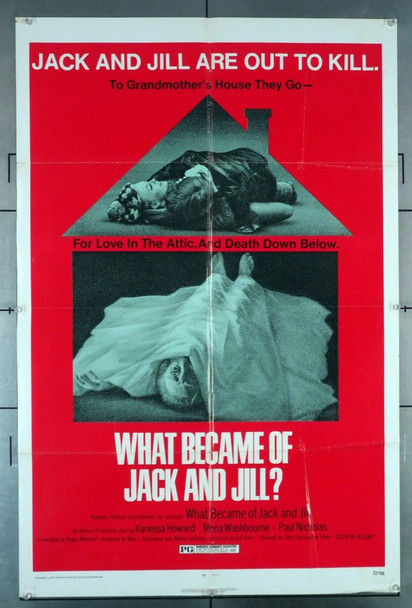 WHAT BECAME OF JACK AND JILL? (1972) 4218 20th Century Fox Original U.S. One-Sheet Poster (27x41) Folded  Fine Condition