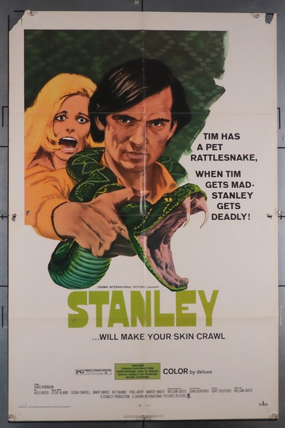 STANLEY (1972) 4236 Crown International U.S. One-Sheet Poster (27x41) Folded   Fair Condition