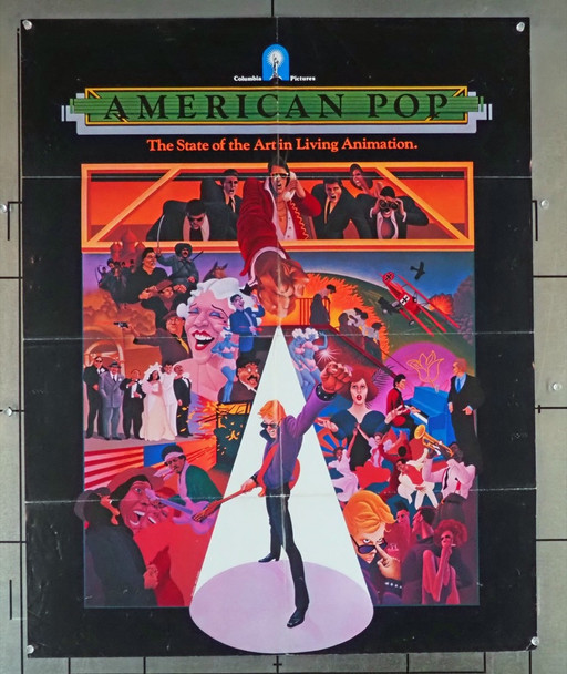 AMERICAN POP (1981) 1159 SPECIAL POSTER (27X34) for AMERICAN POP (1981)  Ralph Bakshi Animation Film
