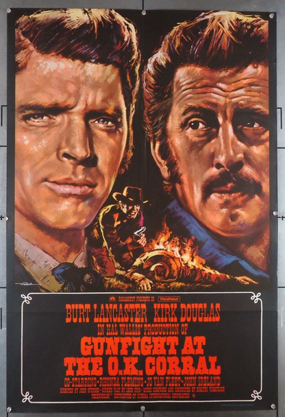 GUNFIGHT AT THE O.K. CORRAL (1957) 28989 Paramount Pictures British 27x41  Re-release poster of 1973  Art by Macario Gomez