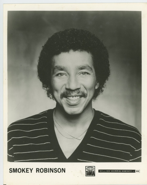 Smokey Robinson (70's) 28941  Gelatin Silver Print 8x10 Tamla Records Photo Gelatin Silver Print of singing legend Smokey Robinson (8x10)  Condition  Good to Fine
