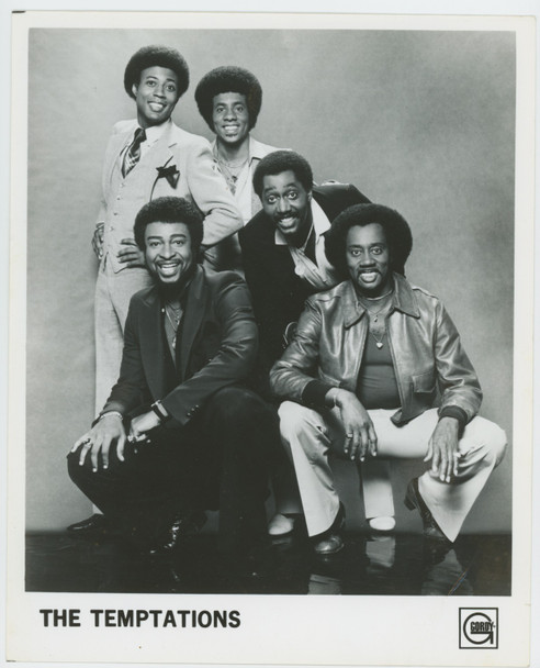 TEMPTATIONS, THE (70'S) 28943  Publicity Photograph circa 1970s	 Gelatin Silver Print (8x10) THE TEMPTATIONS Soul Group  Condition fine