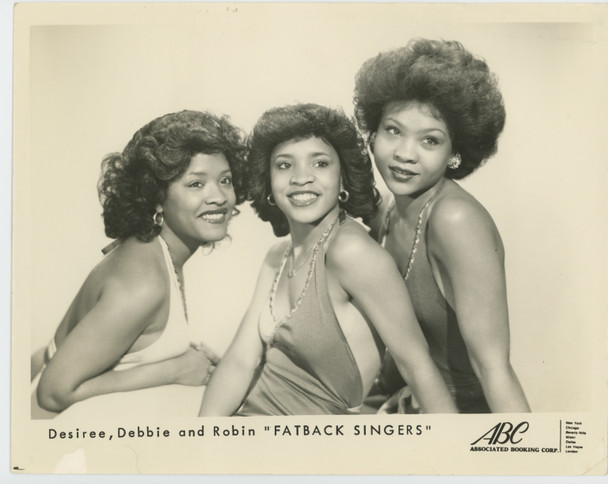 FATBACK SINGERS (70'S) 28940  Gelatin Silver Print  Publicity Photo  8x10  WILD SUGAR Early Publicity Photograph  Gelatin Silver Print 8x10  Desiree Dunn   Robin Dunn   Deborah Cooper