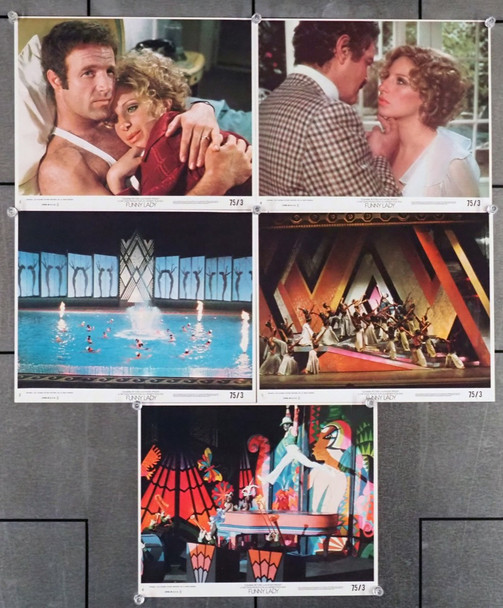 FUNNY LADY (1975) 19306 Columbia PIctures 8x10 Color Lithographs (Color stills)  Five Individual Cards  Very Fine