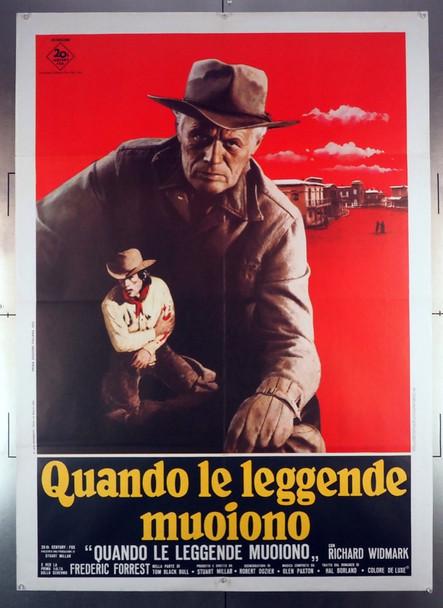 WHEN THE LEGENDS DIE (1972) 28913 20th Century Fox Original Italian 39x55 Poster  Folded  Very Fine Condition