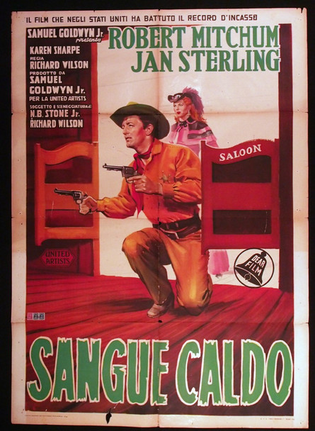 MAN WITH THE GUN (1955) 28905 Original Italian 39x55 Poster  Folded  Average Used Condition  Fair to Good
