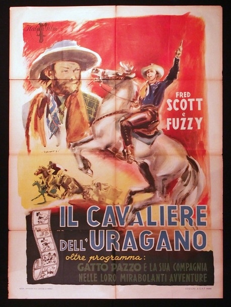 MOONLIGHT ON THE RANGE (1937) 28906 Original Italian 39x55 Poster Folded Theater-Used  Average Used Condition
