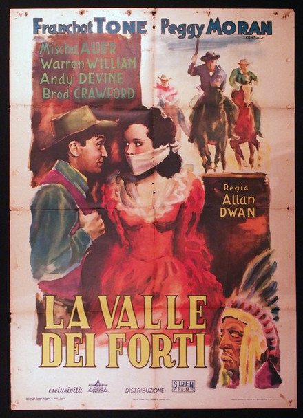 TRAIL OF THE VIGILANTES (1940) 28912 Original Italian 39x55 Poster  Folded  Theater-Used Average Condition