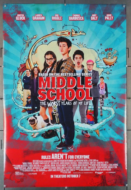 MIDDLE SCHOOL: THE WORST YEARS OF MY LIFE (2016) 28955 CBS Films Original U.S. One-Sheet Poster (27x40) Double Sided