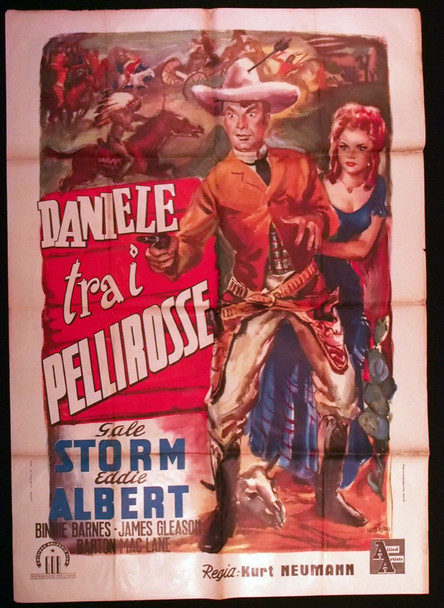 DUDE GOES WEST, THE (1948) 28896 Allied Artists Original Italian 39x55 Poster  Folded  Average Used Condition  Fair
