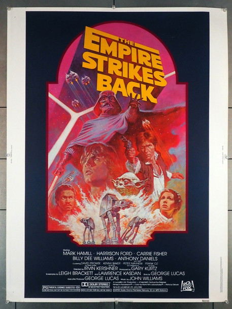 STAR WARS: EPISODE V - EMPIRE STRIKES BACK, THE (1980) 3986  30x40 Movie Poster 20th Century Fox Original 30x40 Movie Poster  Rolled  Fine Condition  Art by Tom Jung