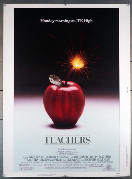 TEACHERS (1984) 3988 MGM/ Original 30x40 Poster  Rolled  Very Fine