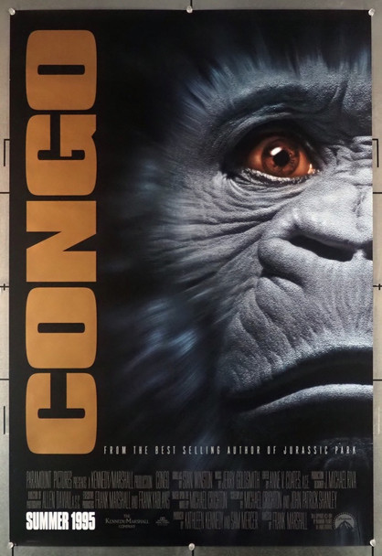 CONGO (1995) 6183 Paramount Pictures Original U.S. One-Sheet Poster (27x41) Rolled  Very Fine Plus Condition
