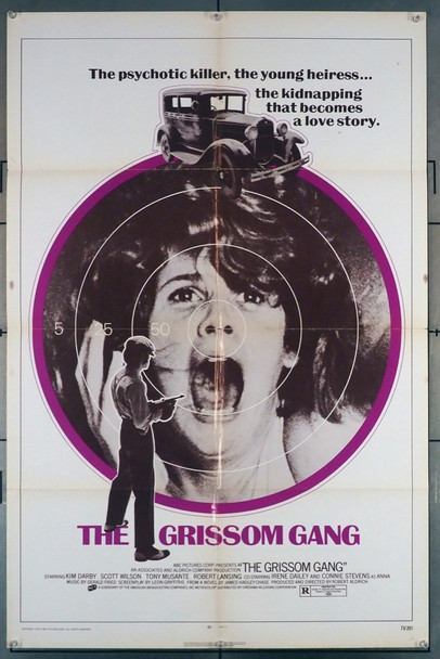 GRISSOM GANG, THE (1971) 4252 Cinerama Releasing Original U.S. One-Sheet Poster (27x41) Folded  Good Condition