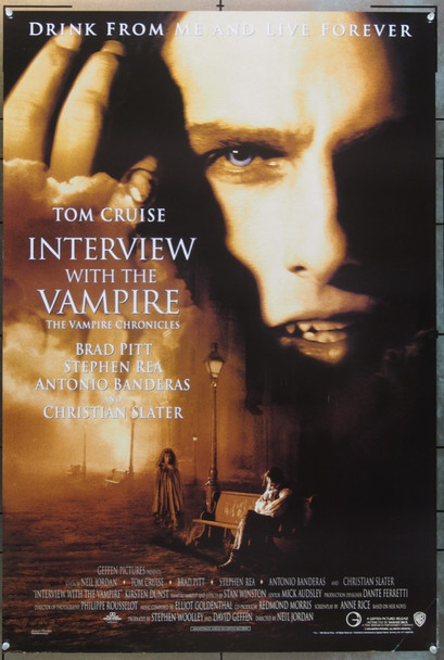 INTERVIEW WITH THE VAMPIRE: THE VAMPIRE CHRONICLES (1994) 6208 REPRODUCTION POSTER  REPRODUCTION POSTER  27X40  Zig Zag Hi Grade Repro