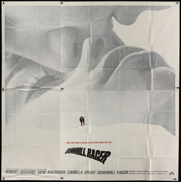 DOWNHILL RACER (1969) 16378  Stephen Frankfurt designed movie poster  Paramount PIctures Original U.S. Six Sheet Poster (81x81)  Folded  Never Used  Very Fine Plus Condition