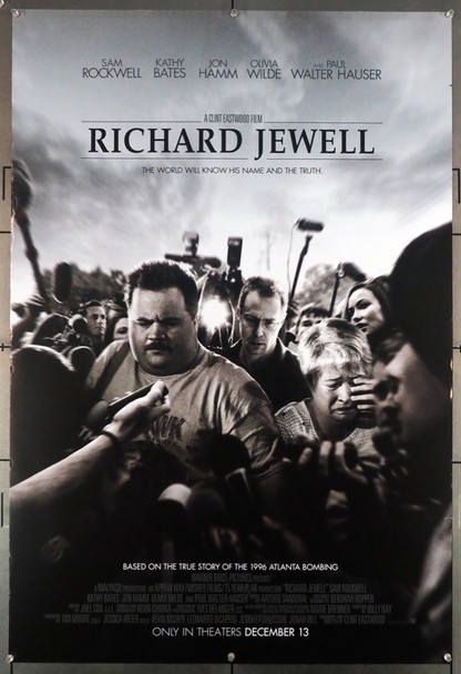 RICHARD JEWELL (2019) 29015 Warner Brothers Original U.S. One-Sheet Poster (27x40) Rolled  Fine Plus Condition