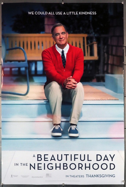 BEAUTIFUL DAY IN THE NEIGHBORHOOD, A (2019 ) 28994  Tom Hanks Movie Poster Tri-Star Pictures Original U.S. One-Sheet Poster  (27x40) Rolled  Double-Sided  Fine Plus Condition
