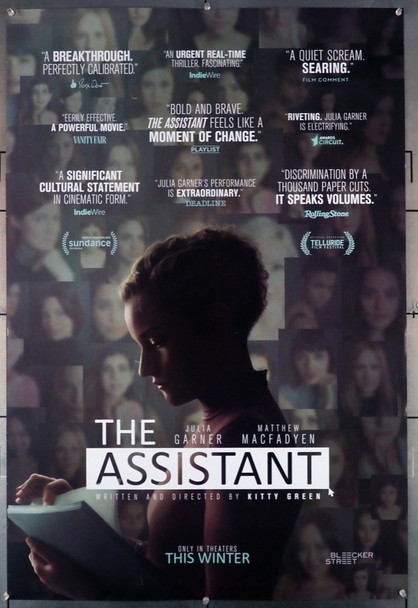 ASSISTANT, THE (2019) 28993 Bleecker Street Media Original U.S. One-Sheet Poster  (27x40)  Rolled  Fine Plus Condition