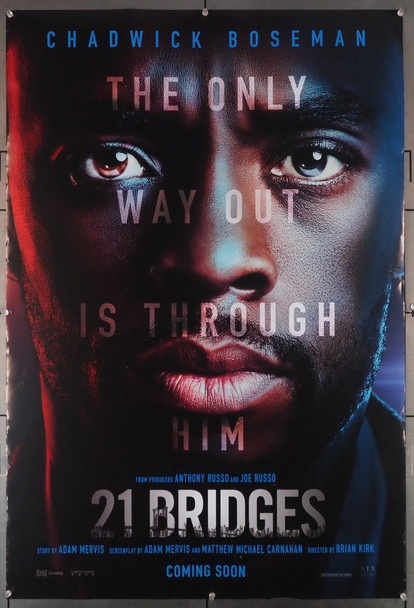 21 BRIDGES (2019) 28991 STX Entertainment Original U.S. One-Sheet Poster  (27x40)  Rolled  Fine Plus Condition