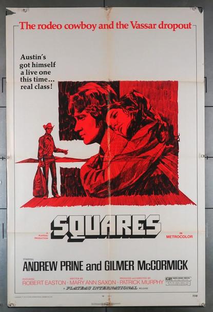 SQUARES (1972) 4221 Plateau Original U.S. One-Sheet Poster (27x41) Folded  Good Condition  Average Used
