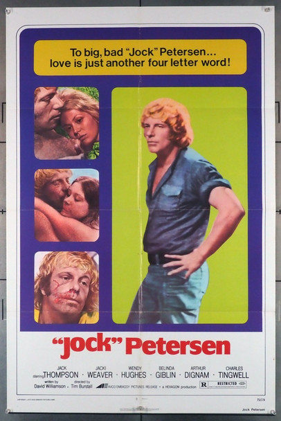 """JOCK"" PETERSEN (1975) 3669 Embassy Pictures Original U.S. One-Sheet Poster (27x41) Folded  Very Good Plus Condition"