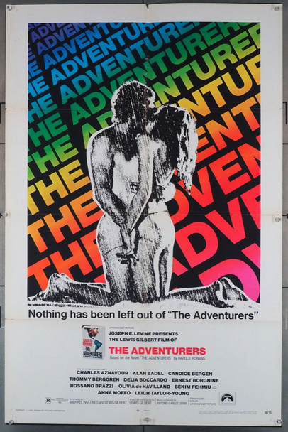 ADVENTURERS, THE (1970) 3668 Paramount Pictures Original U.S. One-Sheet Poster (27x41) Average Used Condition  Good Plus