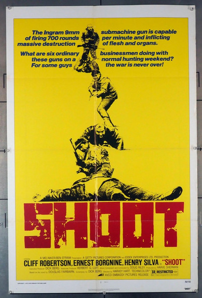 SHOOT (1976) 3747 Original Avco-Embassy Films U.S. One-Sheet Poster (27x41) Folded  Fine Condition