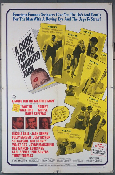 GUIDE FOR THE MARRIED MAN, A (1967) 3759 20th Century Fox Original U.S. One-Sheet Poster (27x41) Folded  Very Good Plus Condition